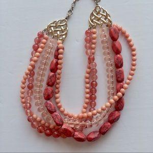 🍌BANANA REPUBLIC Multi- Layered Bead Necklace